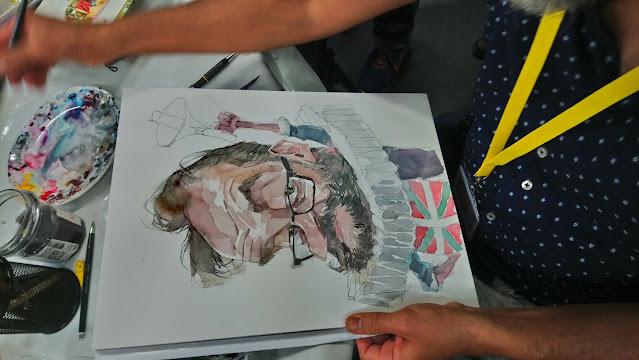 Caricaturas en Barcelona -Leonardo Rodríguez