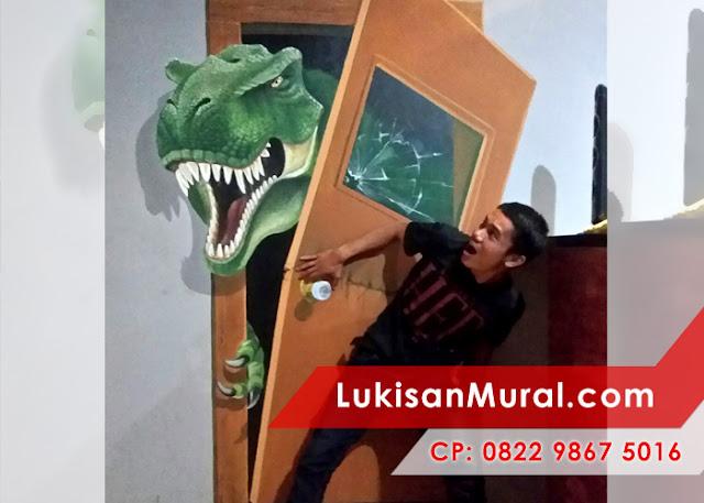 Lukisan dinding kamar 3D