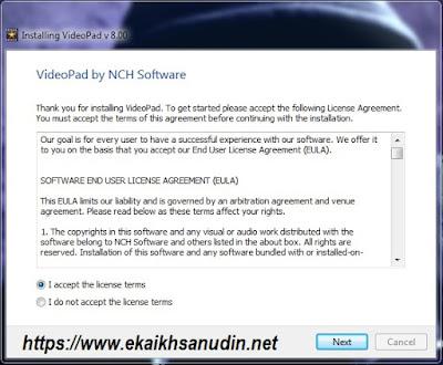 VideoPad Versi 8.00 dan Kode Registrasi