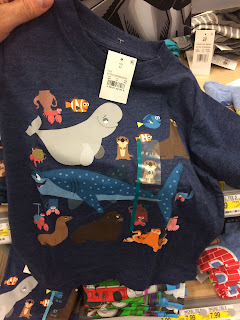 finding dory character t shirt boys