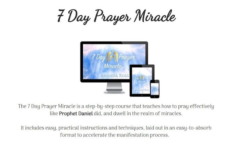 7 Day Prayer Miracle - How does it work   Amanda Ross Program Really Worthy