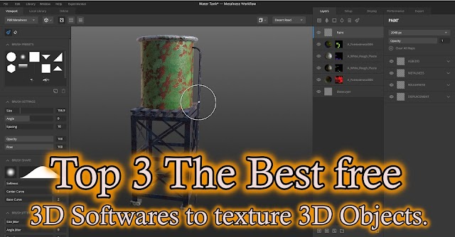 Top 3 The Best Free Software To Texture 3D Model or Mesh