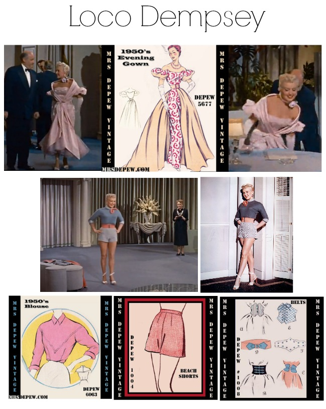 how to marry a millionaire loco dempsey betty grable costumes sewing patterns from mrs depew vintage
