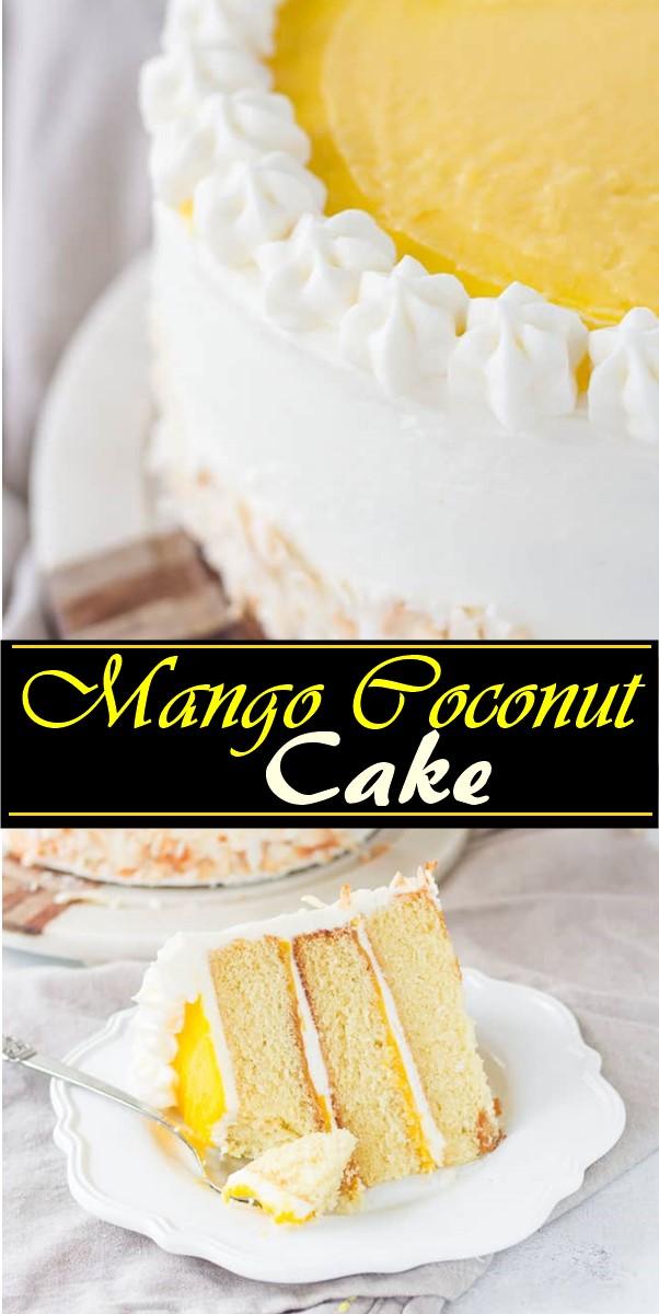 Mango Coconut Cake #cakerecipes