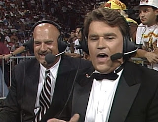 WCW Bash at the Beach 1994 - Jesse Ventura joined Schiavone to call a few matches