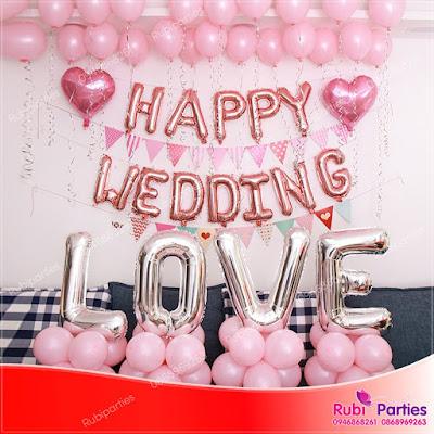 Set bóng trang trí phòng cưới HPWD03