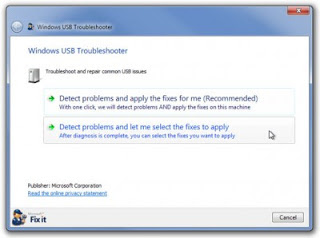 Windows USB Troubleshoot