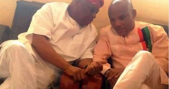Nnamdi Kanu Threatens To Beat Orji Uzor Kalu If He Ever Tells Him to End Biafra Agitation  Orji Uzor Kalu and Nnamdi Kanu