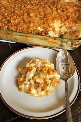 Comfort Food Classic - Cheesy Hashbrown Casserole - perfect for Easter breakfast or dinner
