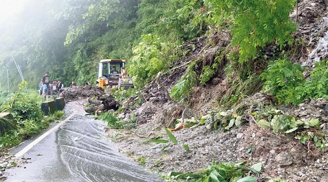 Landslide risk from ditches after incessant rain in Darjeeling