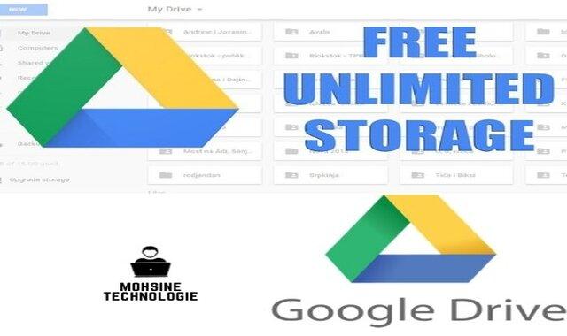 الحصول على مساحة لا محدودة و مجانًا علي جوجل درايف