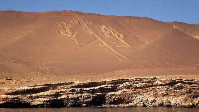 Αποτέλεσμα εικόνας για Η μυστηριώδης γεώγλυφα τρίαινα του Παράκας του Περού