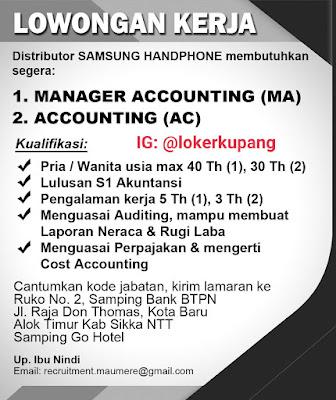 Lowongan Kerja Samsung Handphone Sebagai Manager Accounting & Accounting