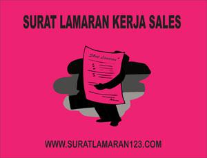 Contoh Surat Lamaran Pekerjaan Sales
