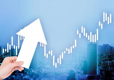 株価上昇を表す