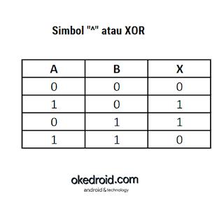 Tabel Kebenaran XOR Operator Bitwise Java