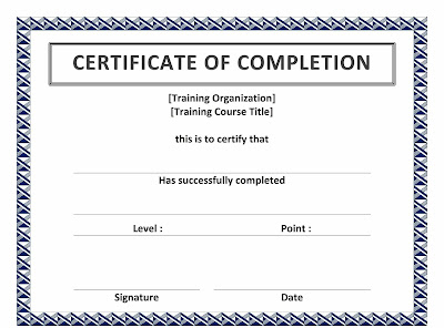 Printable Certificate Templates For Word Cfaty