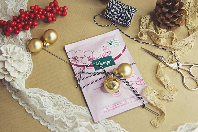 DIY Weihnachtsgeschenke günstig verpacken mit Kneipp
