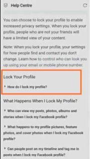 Cara Membuat Profil Facebook Terkunci
