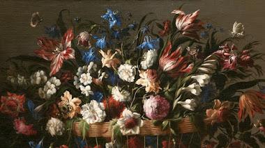 Floreros y guirnaldas de flores de Juan de Arellano