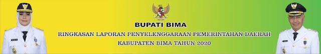 Ringkasan Laporan Penyelenggaraan Pemerintahan Daerah  Kabupaten Bima Tahun 2020