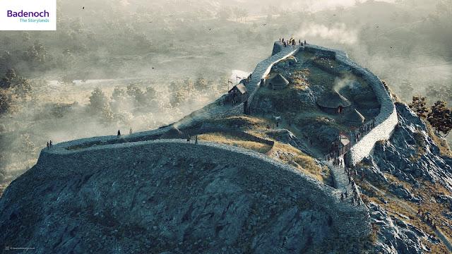 Digital reconstruction of Dun da Lamh hillfort, Badenoch by Bob Marshall