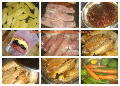 Rollitos de Cerdo rellenos de manzana y ciruela al Jerez dulce