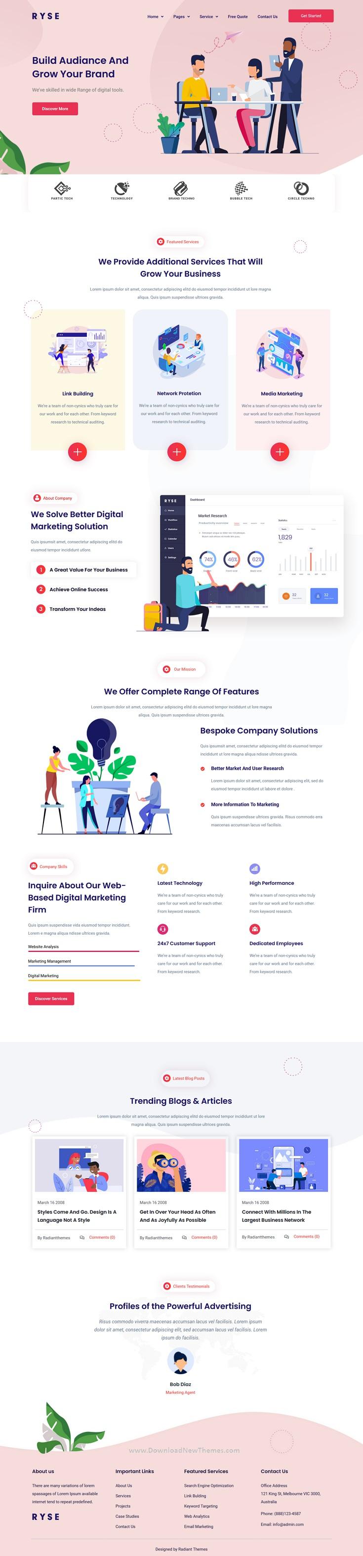 SEO & Digital Marketing Elementor Template Kit