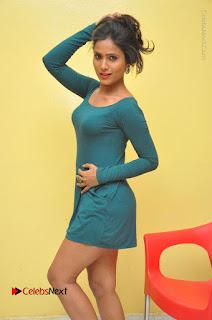 Telugu Actress Prasanthi Stills in Green Short Dress at Swachh Hyderabad Cricket Press Meet  0023.JPG