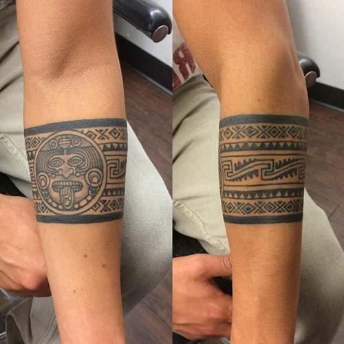 aztec armband tattoo aztek kol bandı dövmesi