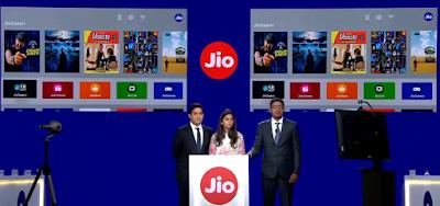Jio Giga Fiber ,Free 4k Tv