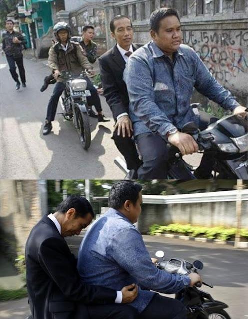 Sumber Foto saat Jokowi naik ojek, dipotret wartawan Tempo, Subekti, pada 2012