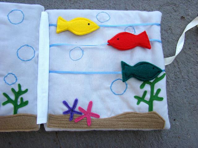 książeczka sensoryczna rybki