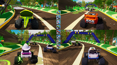 Blaze And The Monster Machines Axle City Racers Game Screenshot 5