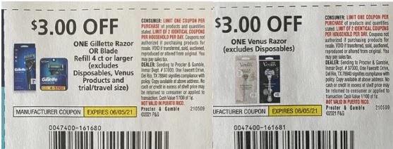may razor coupons 2021