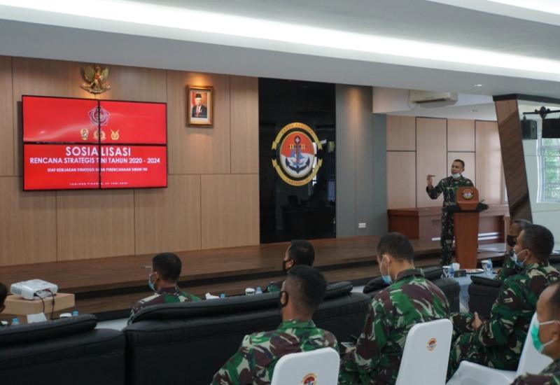 Segenap Prajurit TNI Tanjungpinang Terima Sosialisasi Renstra TNI
