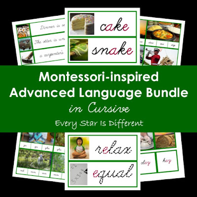 Montessori-inspired Advanced Language Bundle in Cursive