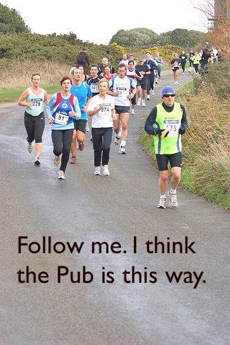 Runner, runners, pack of runners, running race