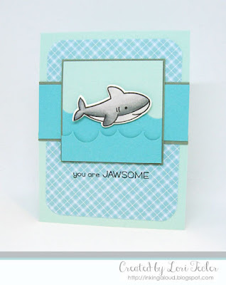 You Are Jawsome card-designed by Lori Tecler/Inking Aloud-stamps and dies from Lawn Fawn