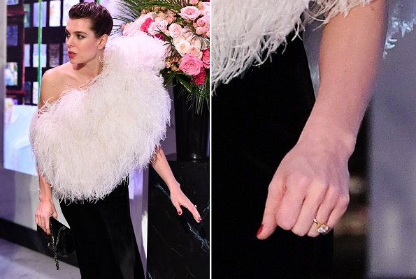Carlotte Casiraghi and Dimitri Rassam got engaged. Charlotte Casiraghi wears Saint Laurent dress from Spring Summer 2018. wedding ceremony in Sicily