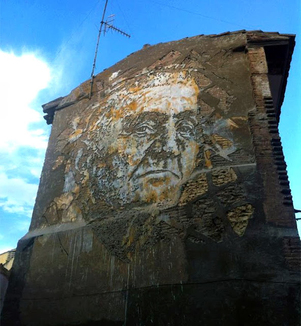 Street Art By Vhils For Avant Garde Urban In Tudela, Spain. 2