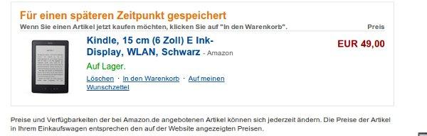 Kindle o połowę taniej, już za 49 euro w niemieckim Amazon