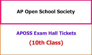 APOSS 10th Class Exam Hall Tickets 2021