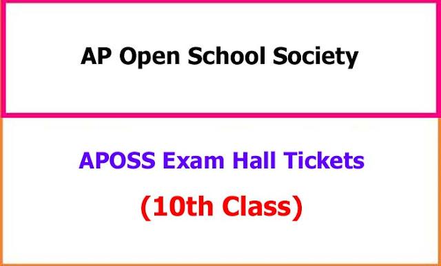 APOSS 10th Class Exam Hall Tickets