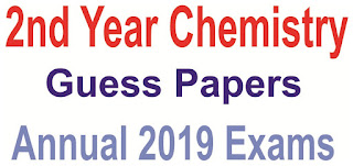 2nd year  chemistry annual 2019 guess papers