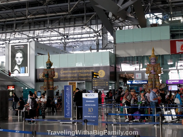 What is it like going through the airport at Bangkok?
