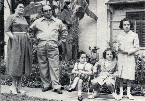 Marcos Pérez Jiménez con su Familia