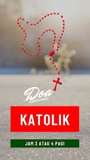 doa jam 3 atau 4 pagi katolik, gambar rosario warna merah