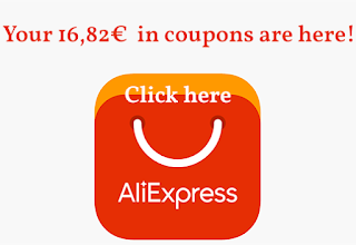 Your 16,82€ in Aliexpress coupons are here!