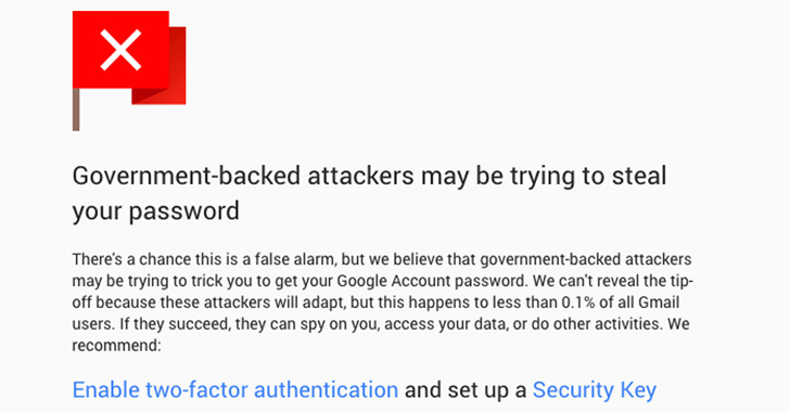 Enhanced State-Sponsored Attack Warnings